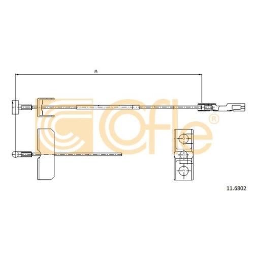 Cablu frana mana Nissan Primastar (X83); Opel Vivaro (J7); Renault Trafic 2 (Jl) Cofle 116802, parte montare : central