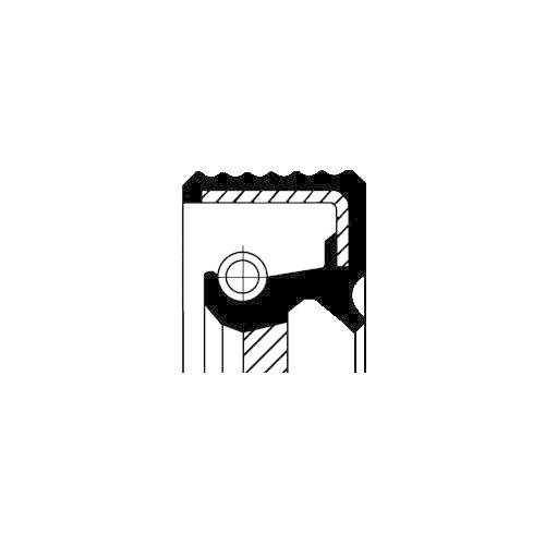Simering arbore cotit Corteco 12025770B, parte montare : Fata