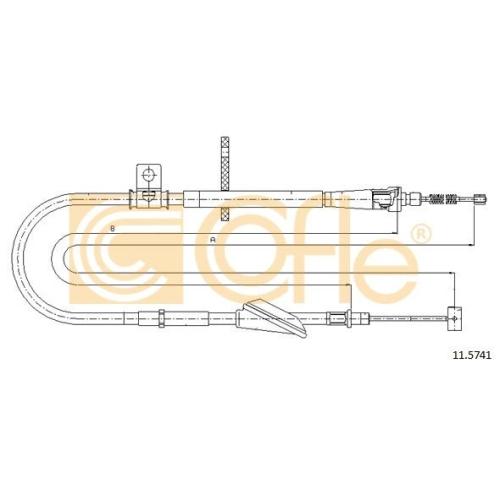 Cablu frana mana Opel Agila (A) (H00); Suzuki Wagon R+ (Mm) Cofle 115741, parte montare : dreapta, spate