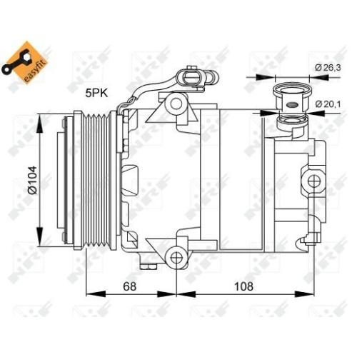 Compresor climatizare Opel Astra G (F48, F08), Combo Tour, Corsa C (F08, F68), Meriva, Tigra Twintop, Zafira A (F75) Nrf 32082