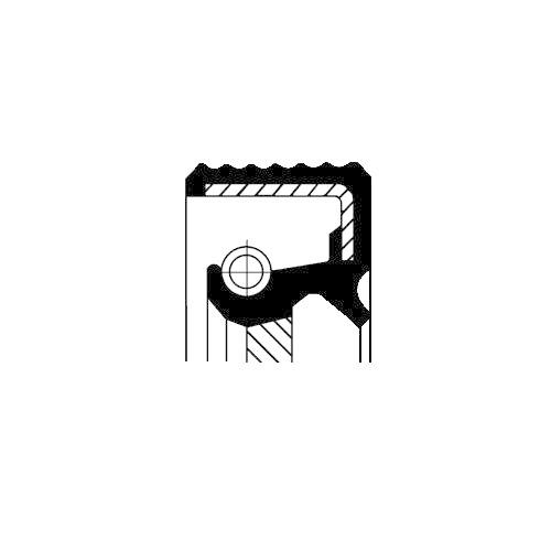 Simering arbore cotit Corteco 20015455B, parte montare : Spre cutie