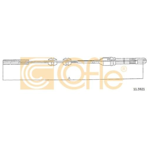 Cablu frana mana Opel Ascona C, Vectra A Cofle 115921, parte montare : stanga, spate