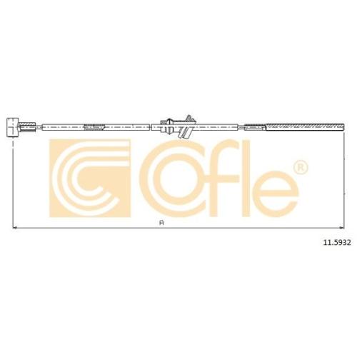 Cablu frana mana Opel Astra F Combi, Vectra B Cofle 115932, parte montare : fata