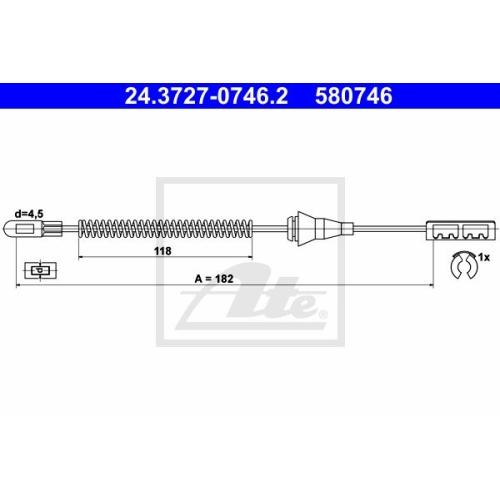 Cablu frana mana Opel Astra G (F48, F08), Astra H (L48), Combo Tour, Zafira A (F75) Ate 24372707462, parte montare : spate