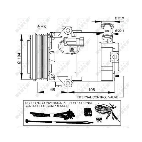 Compresor climatizare Opel Astra H (L48), Zafira B (A05) Nrf 32428