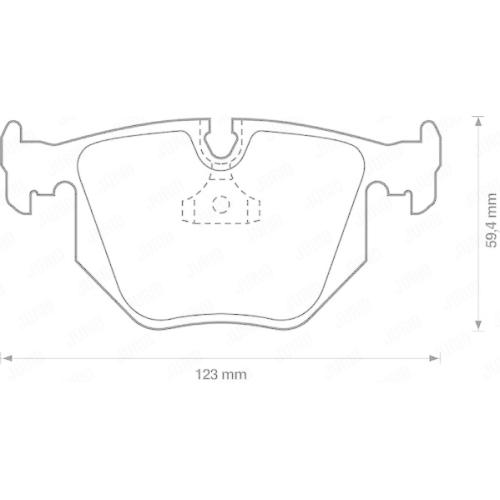 Set placute frana Jurid 571918J, parte montare : punte spate