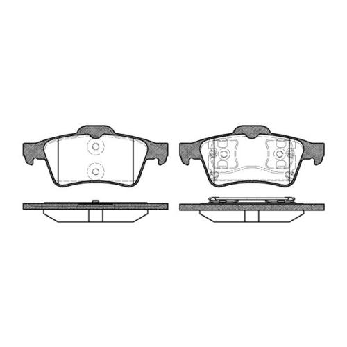 Set placute frana Remsa 084200, parte montare : Punte spate