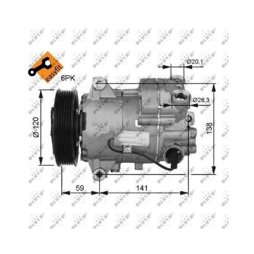 Compresor climatizare Opel Astra J, Insignia Nrf 32487G