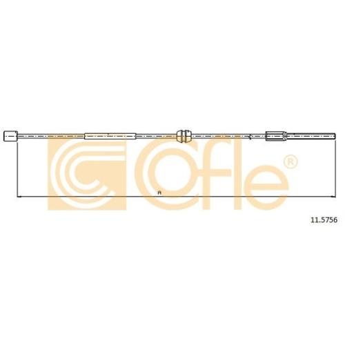 Cablu frana mana Opel Corsa C, Tigra Twintop Cofle 115756, parte montare : fata