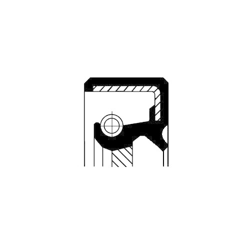 Simering arbore cotit Corteco 20018246B, parte montare : Spre cutie