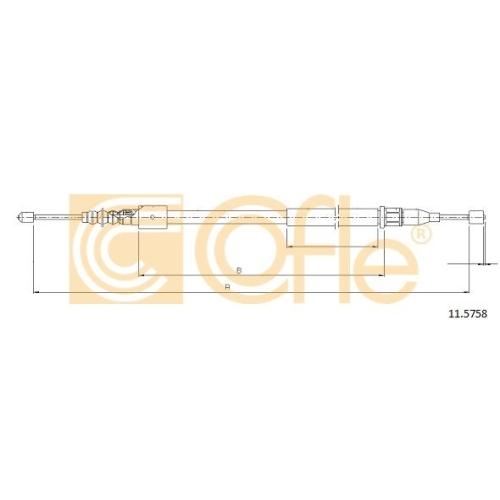 Cablu frana mana Opel Corsa C, Tigra Twintop Cofle 115758, parte montare : stanga, spate