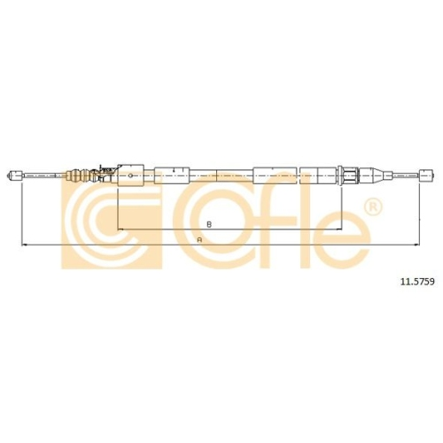 Cablu frana mana Opel Corsa C, Tigra Twintop Cofle 115759, parte montare : stanga, spate
