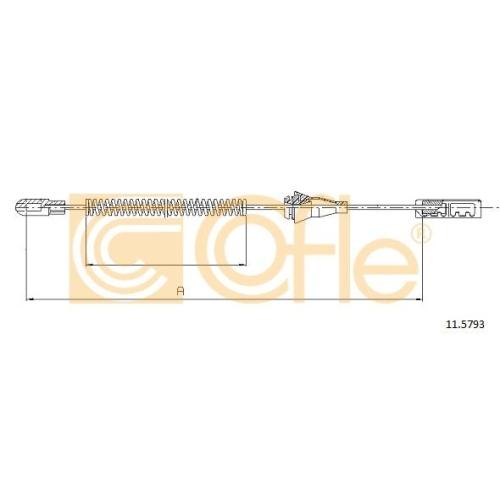 Cablu frana mana Opel Corsa C, Tigra Twintop Cofle 115793, parte montare : dreapta, spate