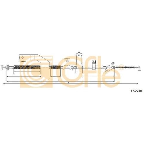 Cablu frana mana Opel Frontera B (6b) Cofle 172740, parte montare : dreapta, spate