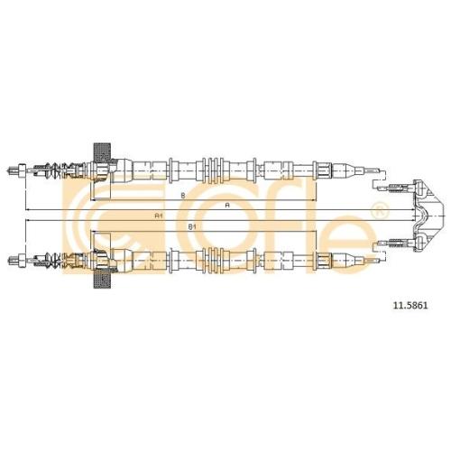 Cablu frana mana Opel Zafira A (F75) Cofle 115861, parte montare : spate