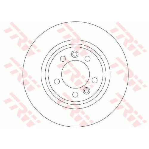 Disc frana Trw DF4351, parte montare : Punte spate