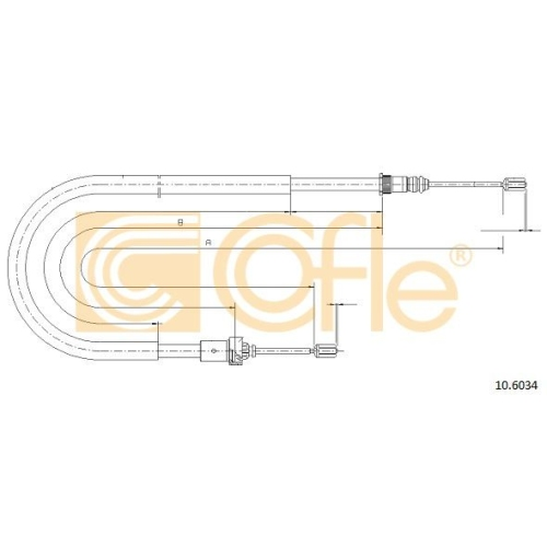 Cablu frana mana Peugeot 206 (2a/C), 206 Limuzina Cofle 106034, parte montare : stanga, dreapta, spate