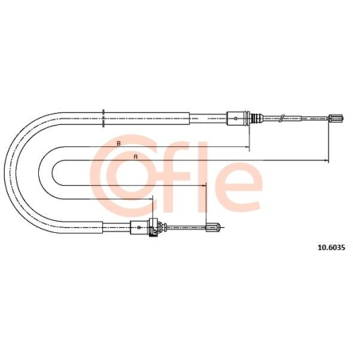 Cablu frana mana Peugeot 207 (Wa, Wc) Cofle 106035, parte montare : stanga, dreapta, spate