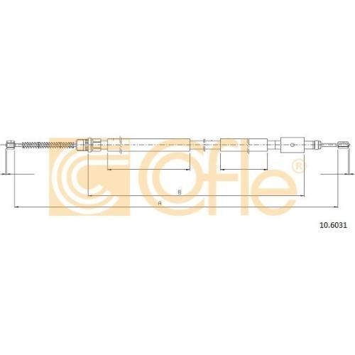 Cablu frana mana Peugeot 306 (7a 7b) Cofle 106031, parte montare : dreapta, spate