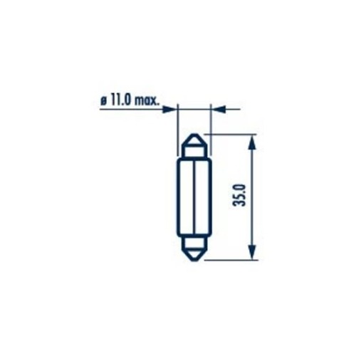 Bec Indicator 12v C5w Set 10 Buc Narva NARVA 17125