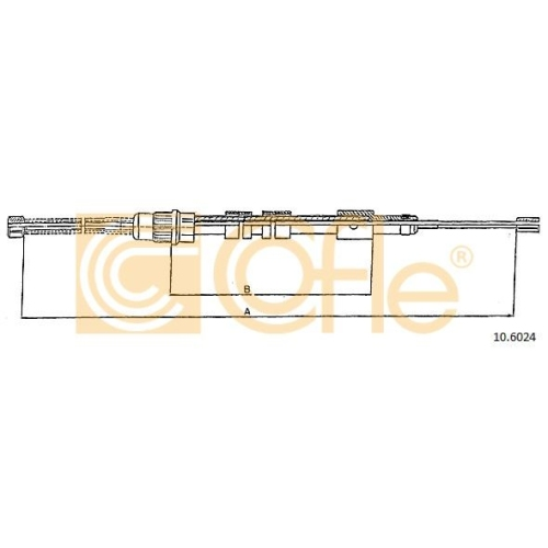 Cablu frana mana Peugeot 306 (7b) Cofle 106024, parte montare : dreapta, spate