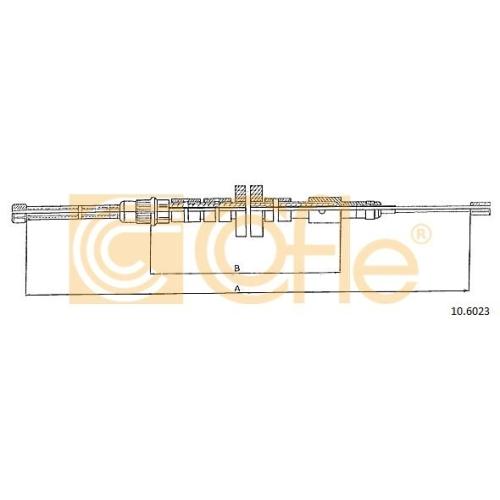 Cablu frana mana Peugeot 306 (7b, 7E) Cofle 106023, parte montare : stanga, spate