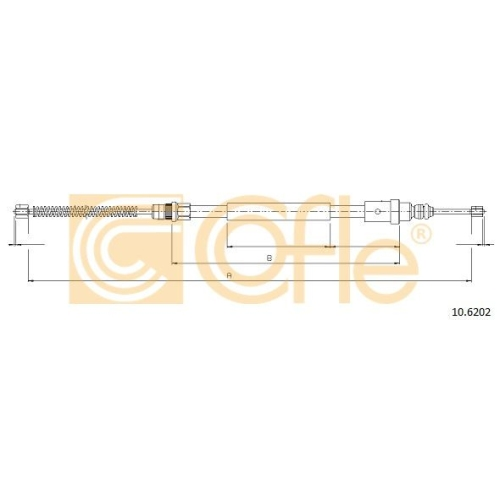 Cablu frana mana Peugeot 406 (8b) Cofle 106202, parte montare : dreapta, spate