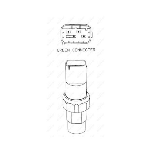 Comutator presiune aer conditionat Bmw Seria 5 (E39), 7 (E38) Nrf 38925