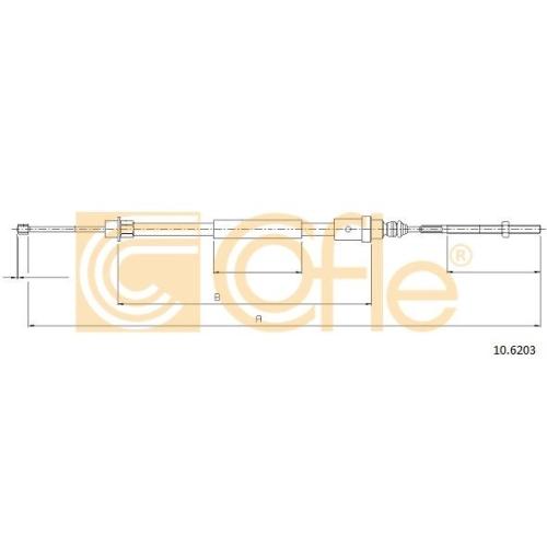 Cablu frana mana Peugeot 406 (8b) Cofle 106203, parte montare : stanga, spate