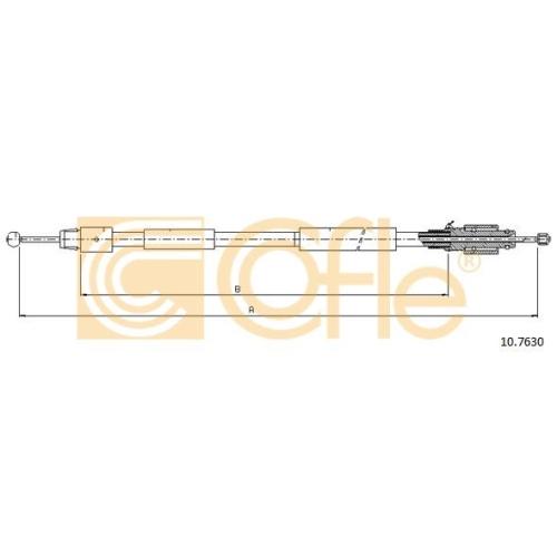Cablu frana mana Porsche Cayenne (9pa, 955); Vw Touareg (7L) Cofle 107630, parte montare : stanga, dreapta, spate
