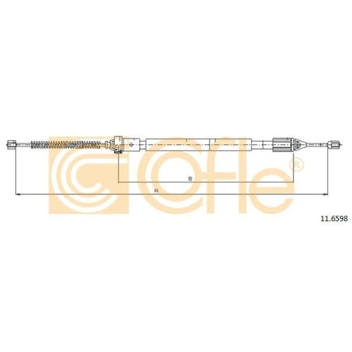 Cablu frana mana Renault Clio 2, Symbol 1, Symbol 2 Cofle 116598, parte montare : dreapta, spate
