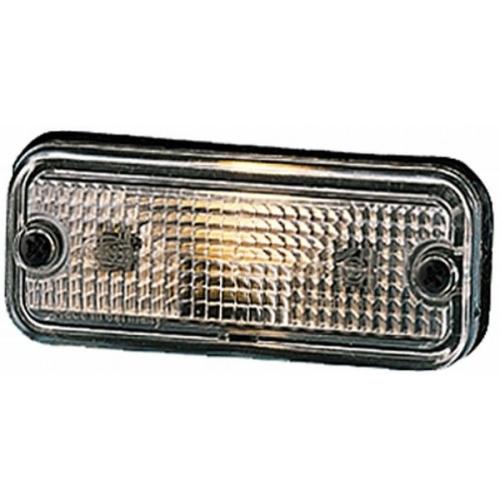 Lampa gabarit Daf 65, 65 Cf, 75, 75 Cf, 85, 85 Cf; Mercedes Mk, Ng, Sk, Hella 2PF961167021, parte montare : Stanga/ Dreapta