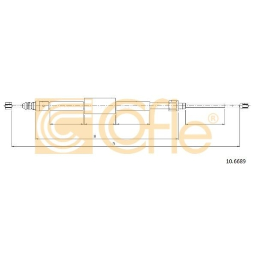 Cablu frana mana Renault Grand Scenic 2 (Jm0/1), Megane 2 (Km0/1) Cofle 106689, parte montare : stanga, dreapta, spate