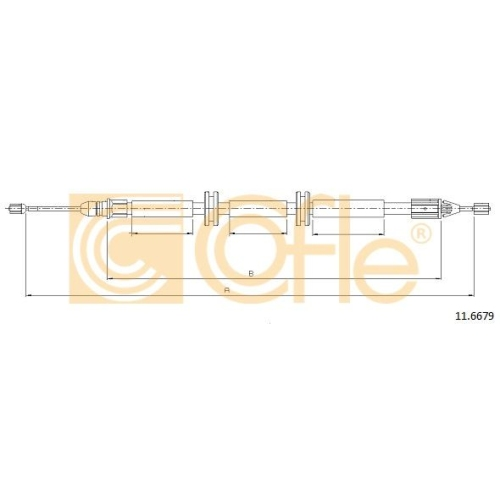 Cablu frana mana Renault Kangoo (Kc0/1) Cofle 116679, parte montare : stanga, dreapta, spate