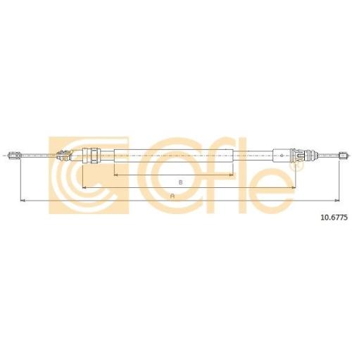 Cablu frana mana Renault Laguna 1 (B56, 556) Cofle 106775, parte montare : stanga, dreapta, spate