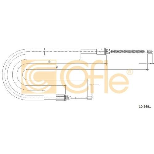 Cablu frana mana Renault Megane 1 (Ba0/1) Cofle 106691, parte montare : stanga, dreapta, spate