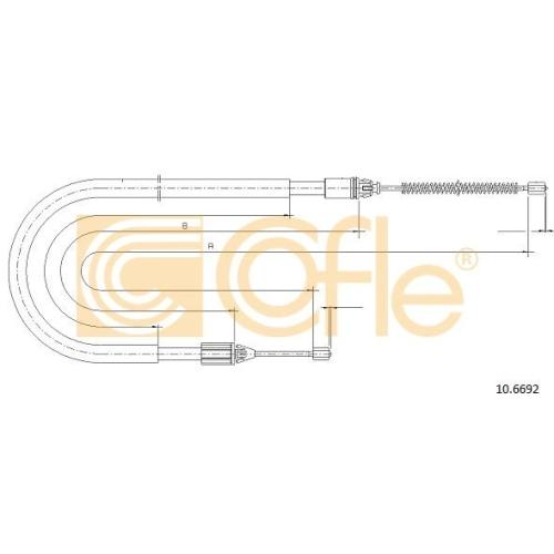 Cablu frana mana Renault Megane 1 (Ba0/1), Megane Scenic (Ja0/1) Cofle 106692, parte montare : stanga, dreapta, spate