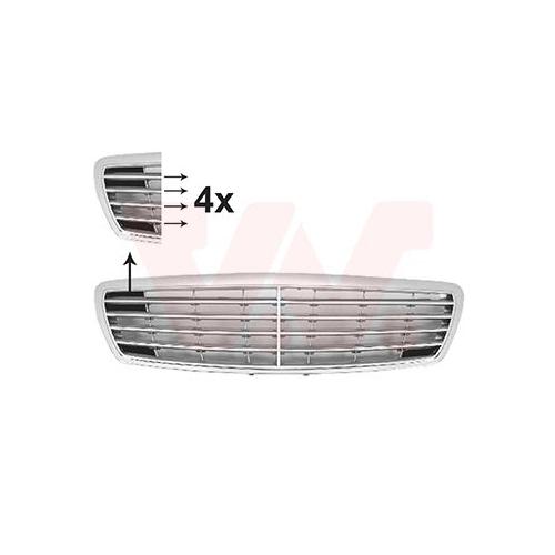Grila radiator Mercedes-Benz E-Class (W211) Van Wezel 3041518