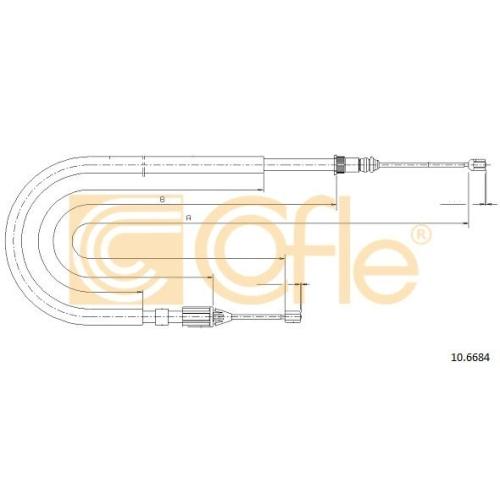 Cablu frana mana Renault Megane 1 Grandtour (Ka0/1) Cofle 106684, parte montare : stanga, spate
