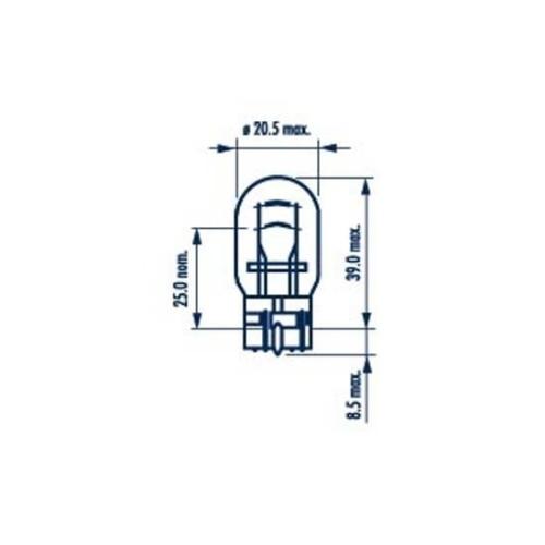 Bec Fara Soclu 12v W21/5w Set 10 Buc Narva NARVA 17919
