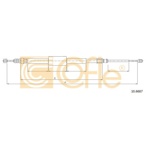 Cablu frana mana Renault Megane 2 (Km0/1), Scenic 2 (Jm0/1) Cofle 106687, parte montare : stanga, dreapta, spate