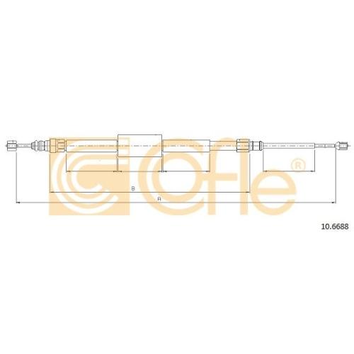 Cablu frana mana Renault Megane 2 Coupe-Cabriolet (Em0/1) Cofle 106688, parte montare : stanga, dreapta, spate