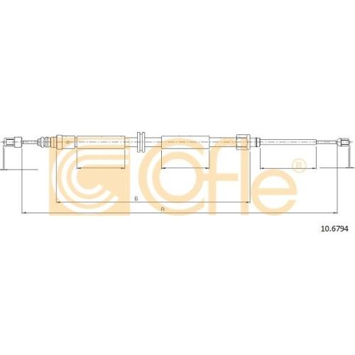 Cablu frana mana Renault Megane 3 Grandtour (Kz0/1) Cofle 106794, parte montare : stanga, dreapta, spate