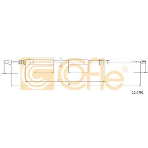 Cablu frana mana Renault Megane Cc (Ez0/1), Megane 3 (Bz0 Cofle 106792, parte montare : stanga, dreapta, spate