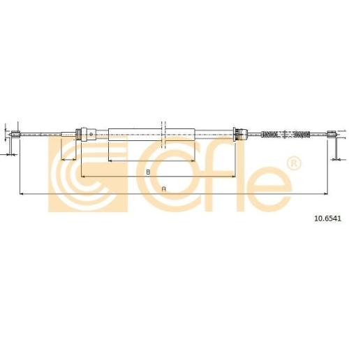 Cablu frana mana Renault Twingo 1 (C06), Twingo 2 (Cn0) Cofle 106541, parte montare : stanga, dreapta, spate