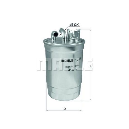 Filtru combustibil Knecht KL554D