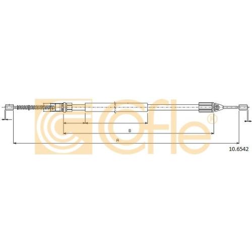 Cablu frana mana Renault Twingo 1 (C06), Twingo 2 (Cn0) Cofle 106542, parte montare : stanga, dreapta, spate