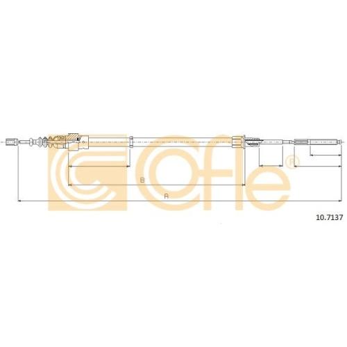 Cablu frana mana Seat Cordoba (6k), Ibiza 2 (6k); Vw Polo (6n1/ 6n2), Polo Classic/Variant (6kv) Cofle 107137, parte montare : stanga, dreapta, spate