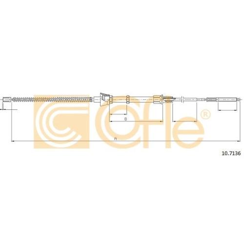 Cablu frana mana Seat Cordoba (6k), Ibiza 2 (6k); Vw Polo (6n1/ 6n2), Polo Classic/Variant (6kv), Polo Limuzina (9a4) Cofle 107136, parte montare : stanga, dreapta, spate