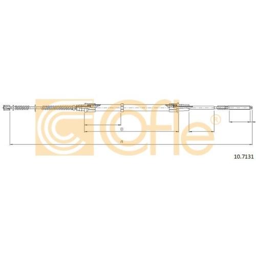 Cablu frana mana Seat Cordoba (6k), Ibiza 2 (6k1); Vw Polo (6n1/ 6n2), Polo Classic/Variant (6kv), Polo Caroserie (86cf) Cofle 107131, parte montare : stanga, dreapta, spate
